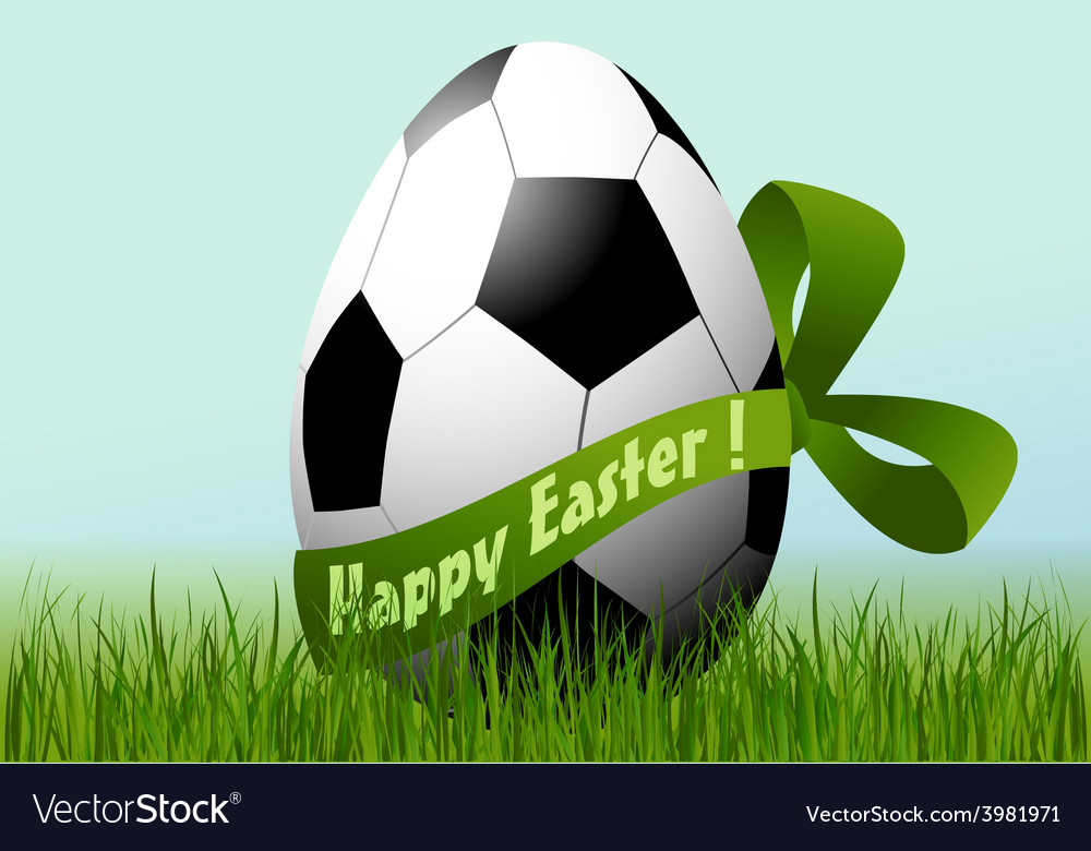 Football easter egg vector | Price: 1 Credit (USD $1)