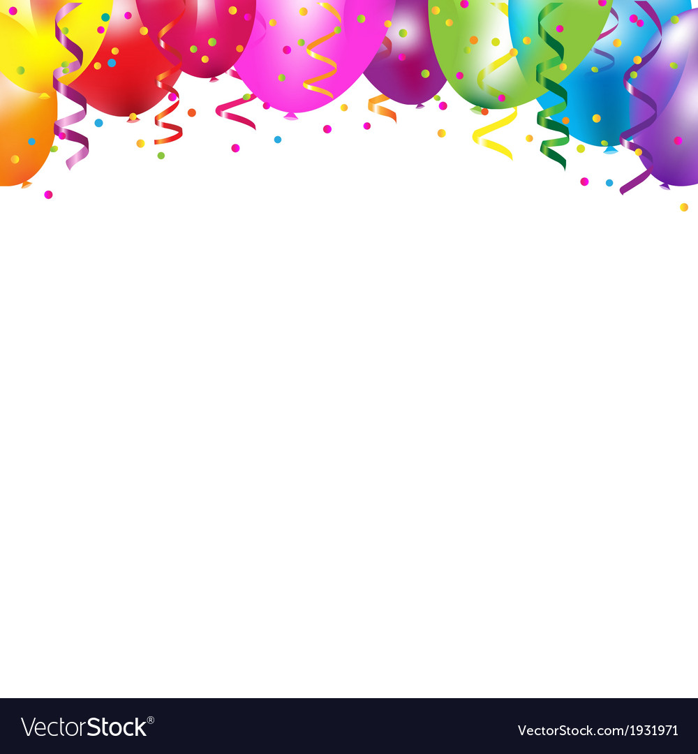Frame with colorful balloons vector | Price: 1 Credit (USD $1)