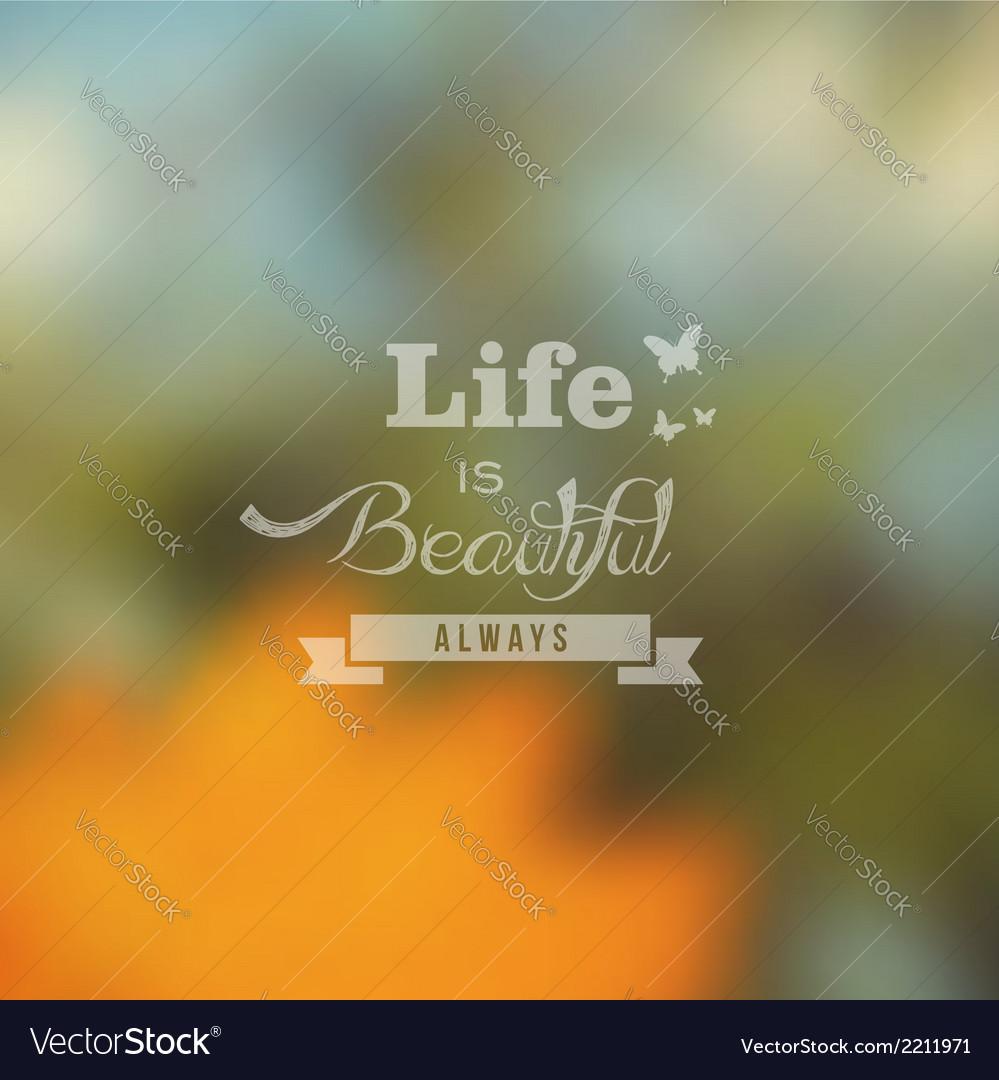 Hipster summer landscape blurred design vector | Price: 1 Credit (USD $1)