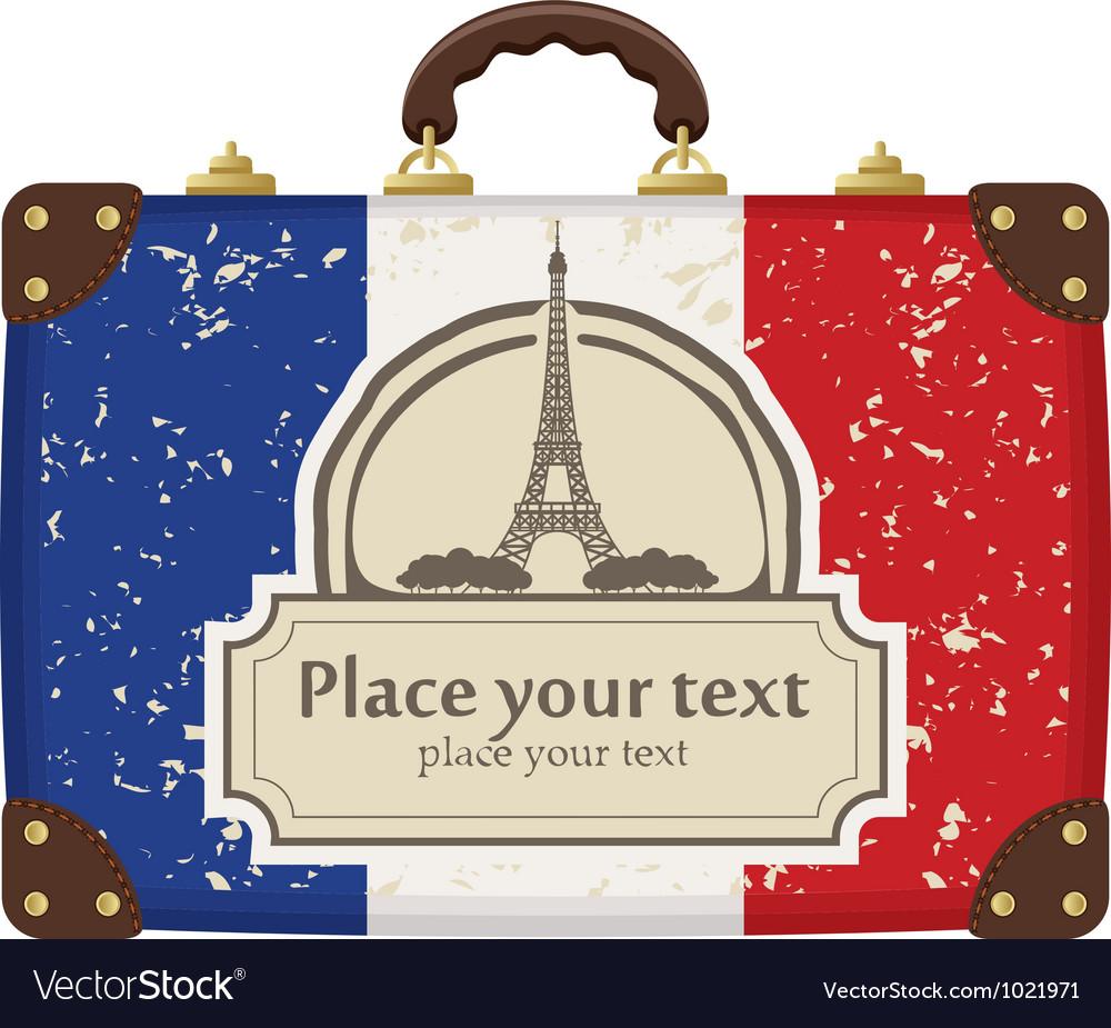 Paris suitcase vector | Price: 1 Credit (USD $1)