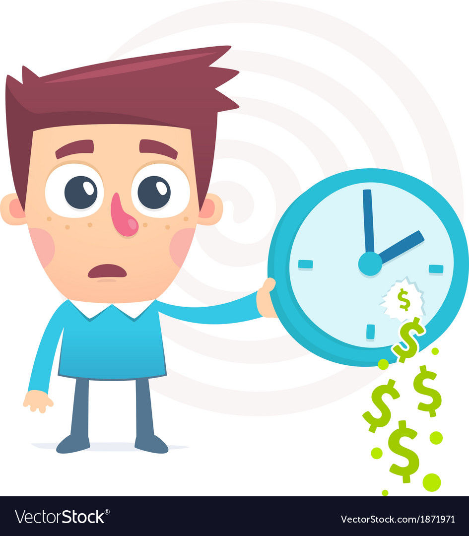 Time spent money vector | Price: 1 Credit (USD $1)