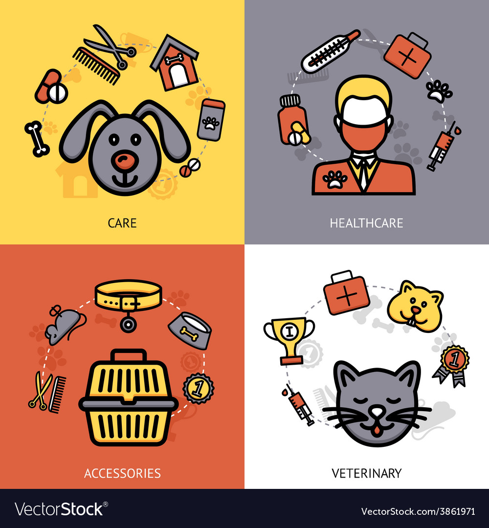 Veterinary design concept vector | Price: 1 Credit (USD $1)