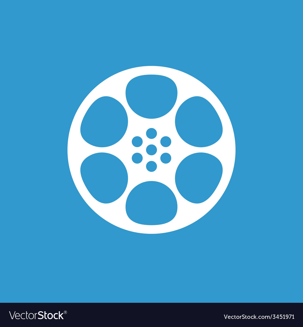 Video film icon white on the blue background vector | Price: 1 Credit (USD $1)