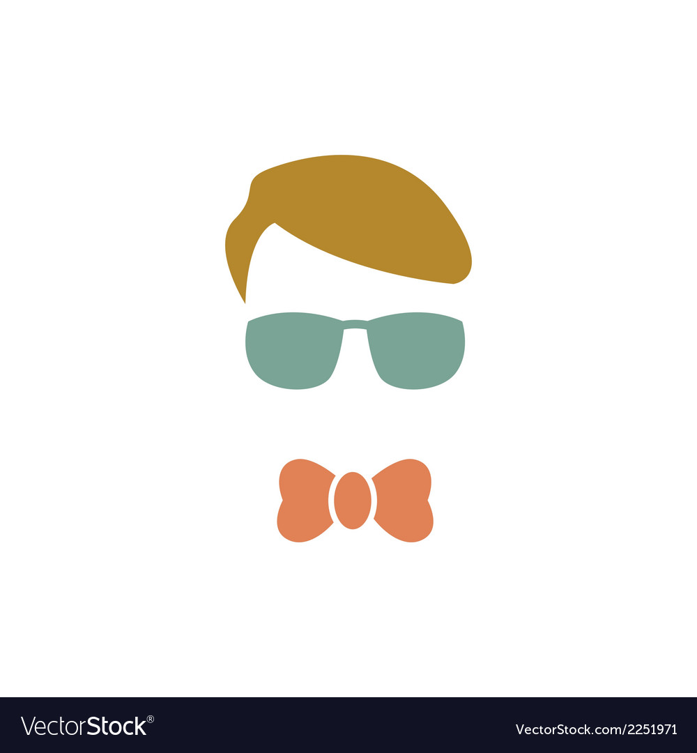 Young boy with blue glasses vector | Price: 1 Credit (USD $1)