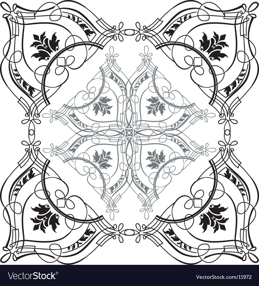 Baroque calligraphy vector | Price: 1 Credit (USD $1)