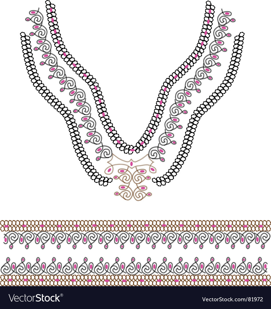 Collar and border vector | Price: 1 Credit (USD $1)