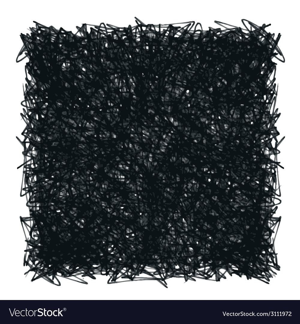 Doodle dark square vector | Price: 1 Credit (USD $1)