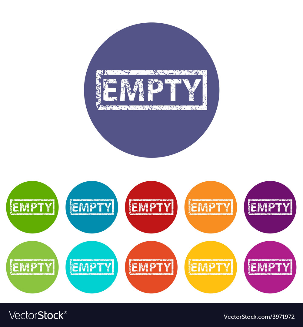 Empty flat icon vector | Price: 1 Credit (USD $1)
