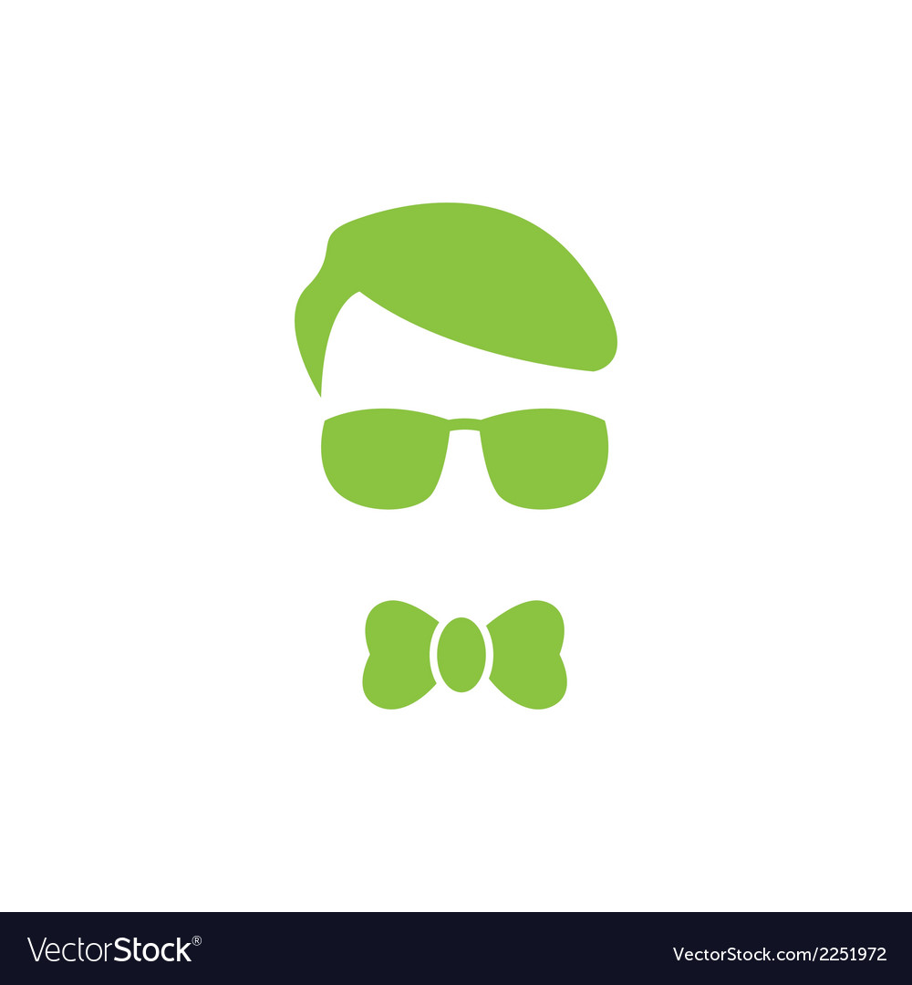 Green young boy logo vector | Price: 1 Credit (USD $1)