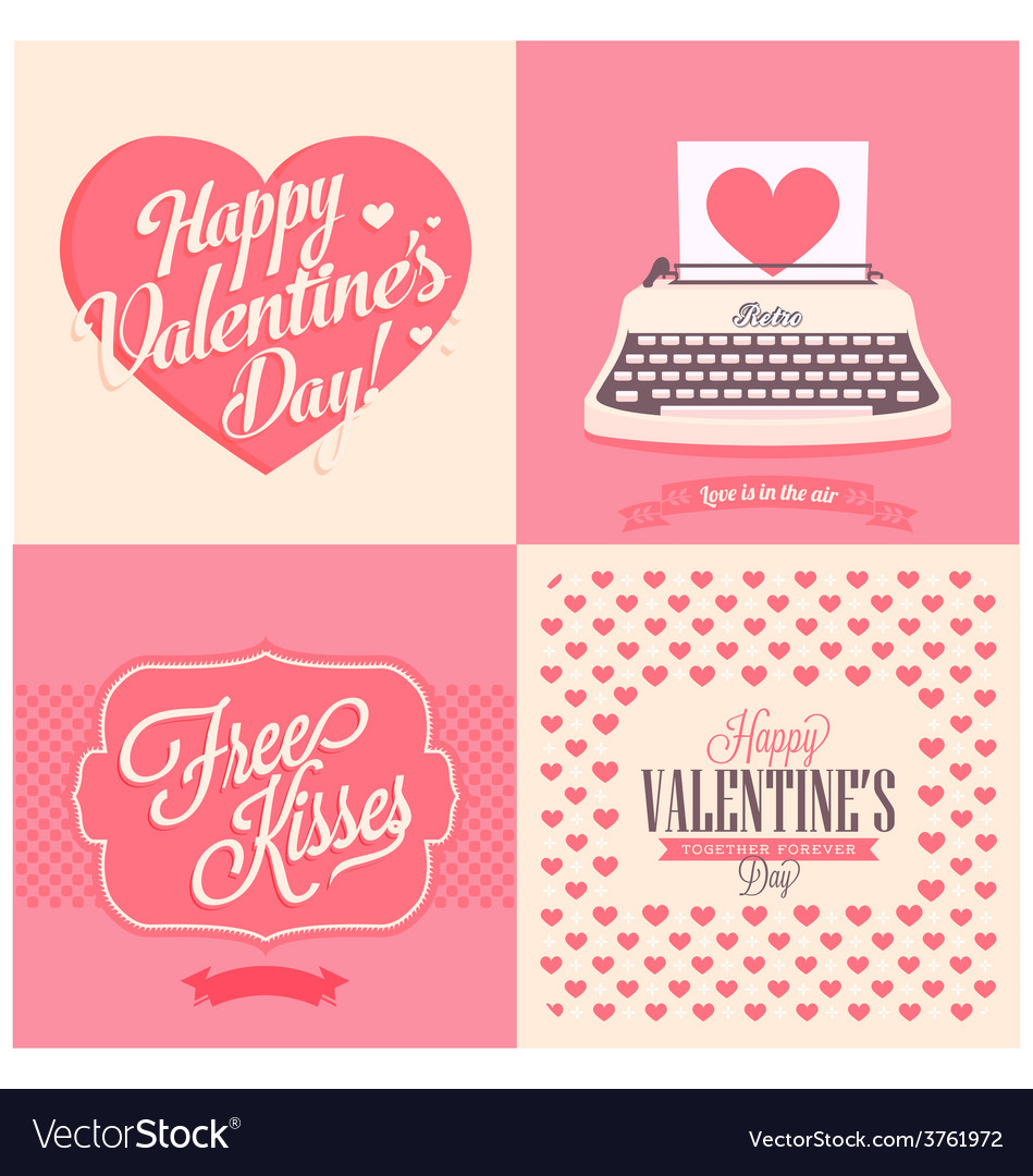 Happy valentins day vector | Price: 1 Credit (USD $1)