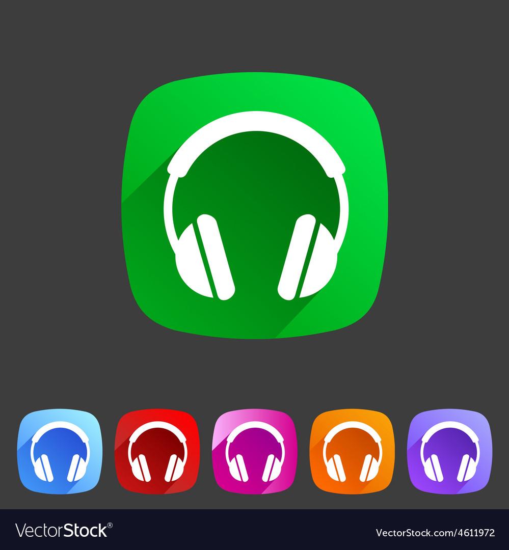 Headphone dj icon sign symbol logo label vector | Price: 1 Credit (USD $1)