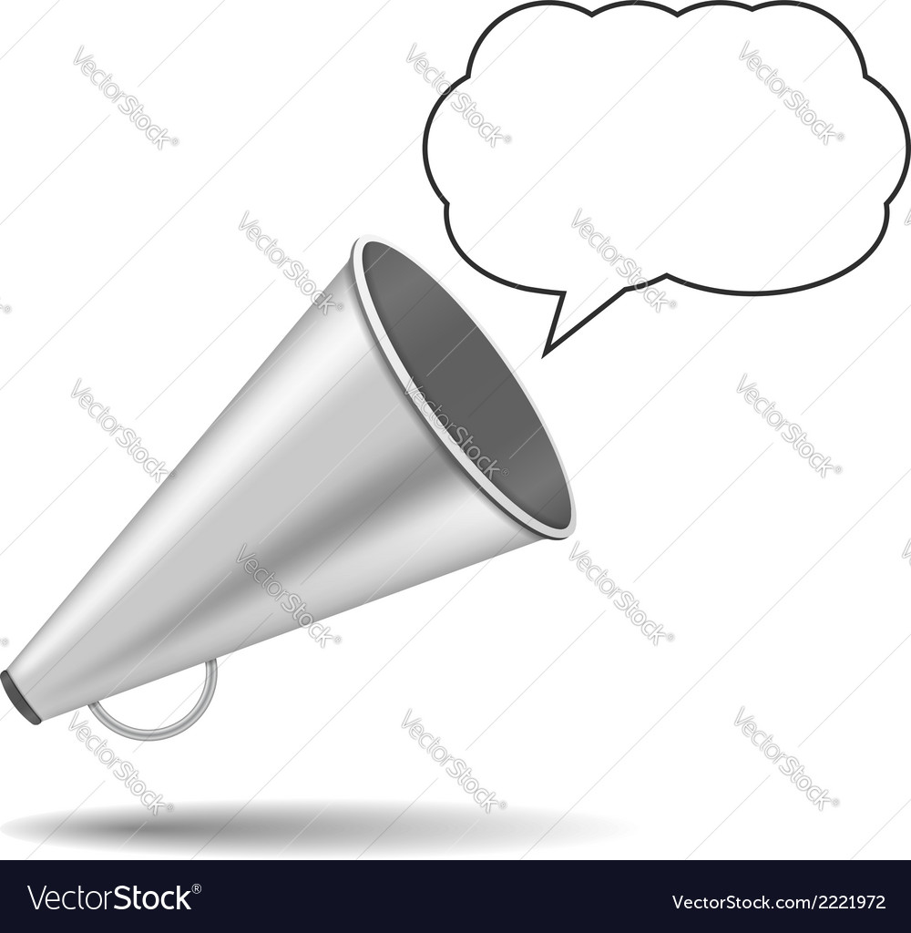 Megaphone with speech bubble vector | Price: 1 Credit (USD $1)