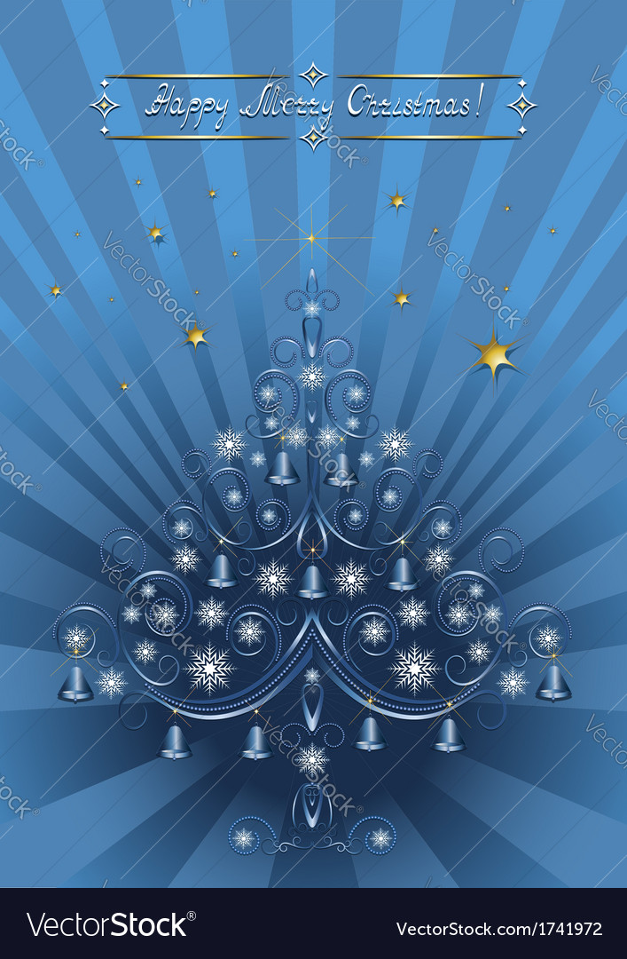 Openwork christmas tree with bells vector | Price: 1 Credit (USD $1)