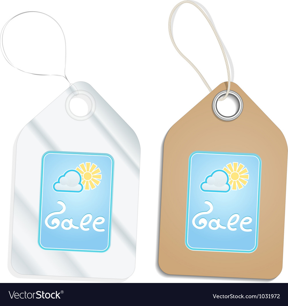 Plastic and cardboard tags vector | Price: 1 Credit (USD $1)