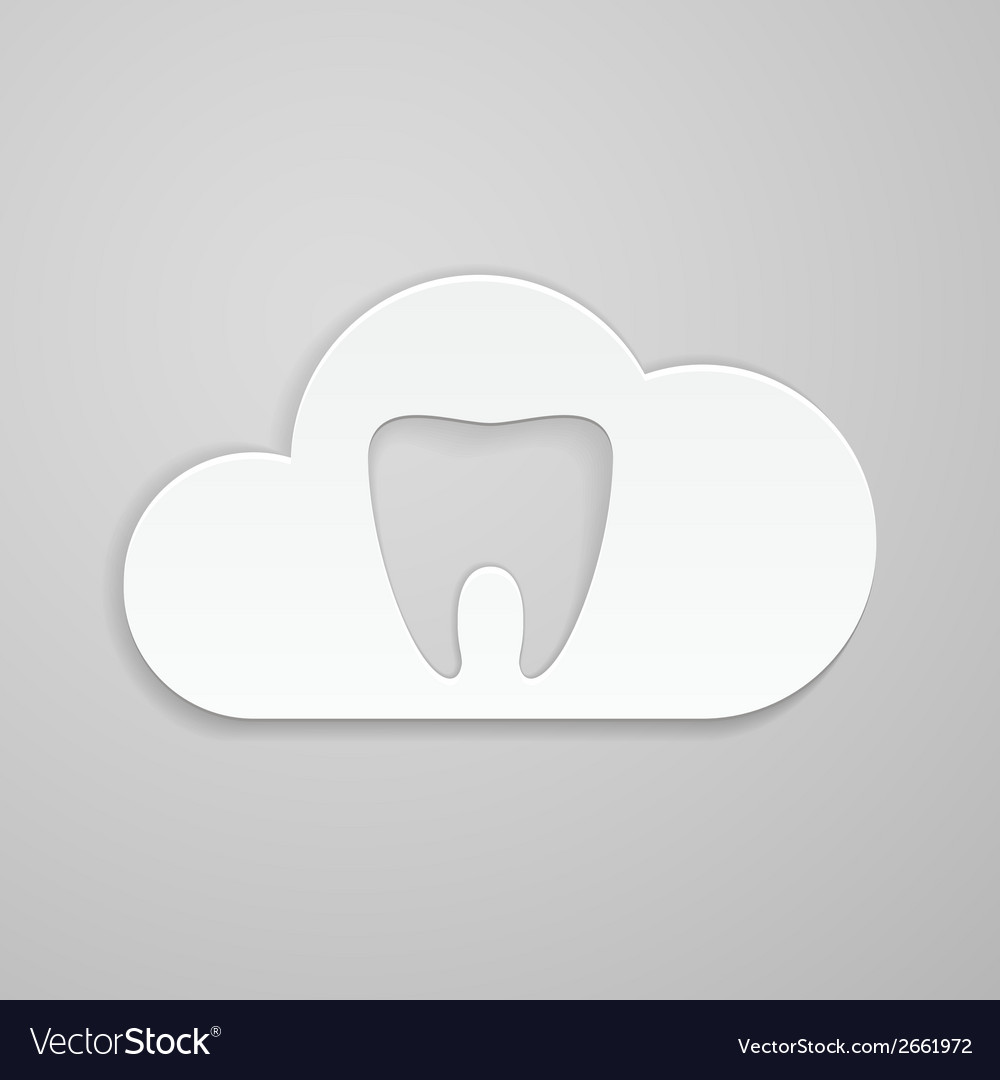 Tooth in could vector | Price: 1 Credit (USD $1)