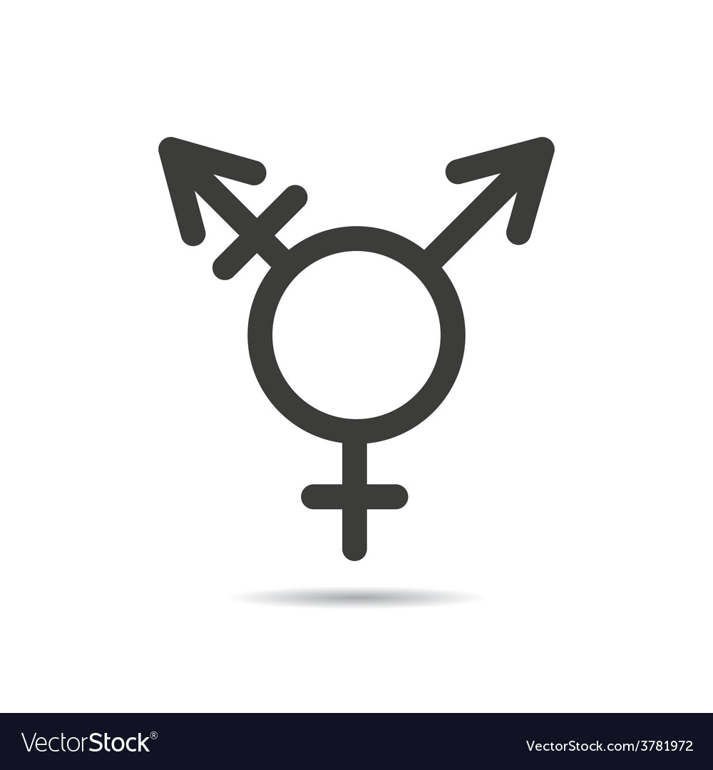 Transgender symbol icon vector | Price: 1 Credit (USD $1)