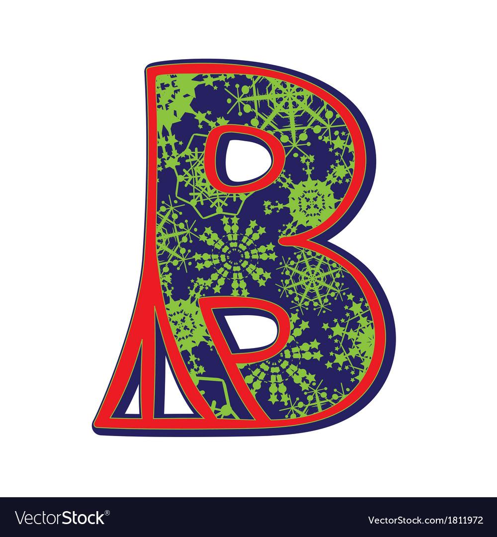 Winter letter b vector | Price: 1 Credit (USD $1)