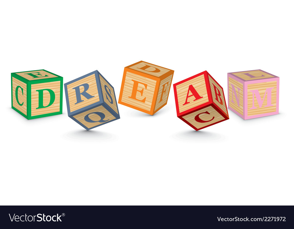 Word dream written with alphabet blocks vector | Price: 1 Credit (USD $1)