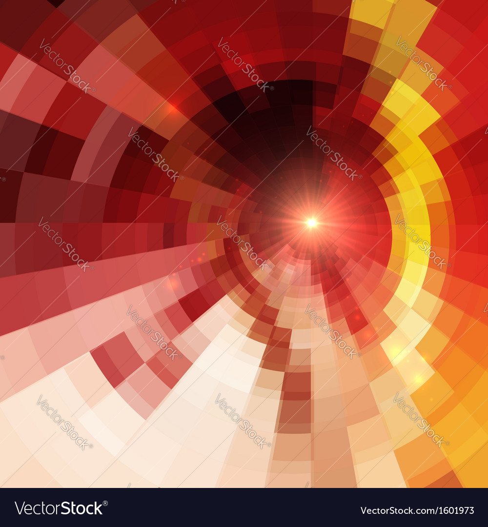Abstract red shining circle tunnel background vector | Price: 1 Credit (USD $1)