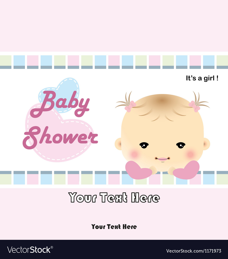 Baby shower card - baby arrival card vector   Price: 1 Credit (USD $1)