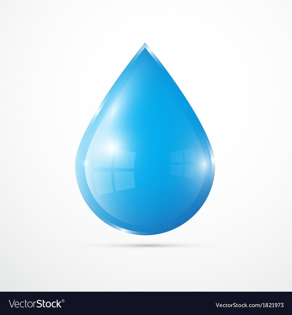 Blue water drop isolated on white background vector | Price: 1 Credit (USD $1)