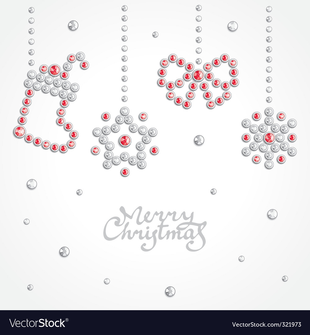 Christmas jewel background vector | Price: 1 Credit (USD $1)