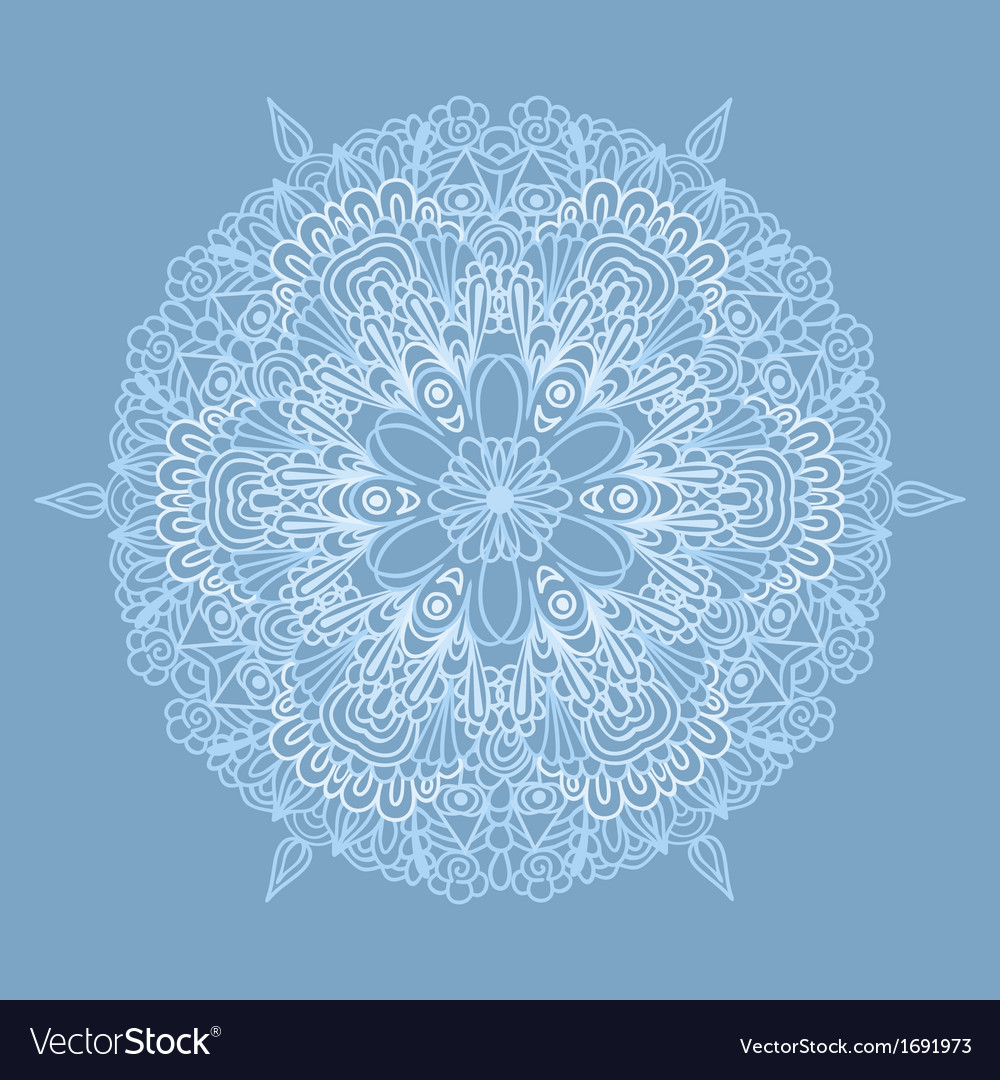 Circle pattern with lacy snowflake vector | Price: 1 Credit (USD $1)