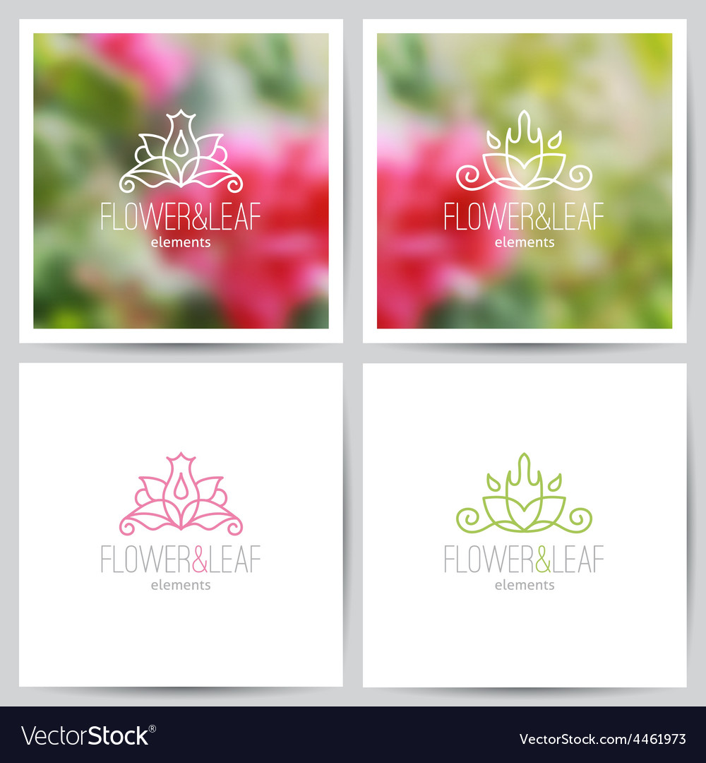 Floral logo set vector | Price: 1 Credit (USD $1)