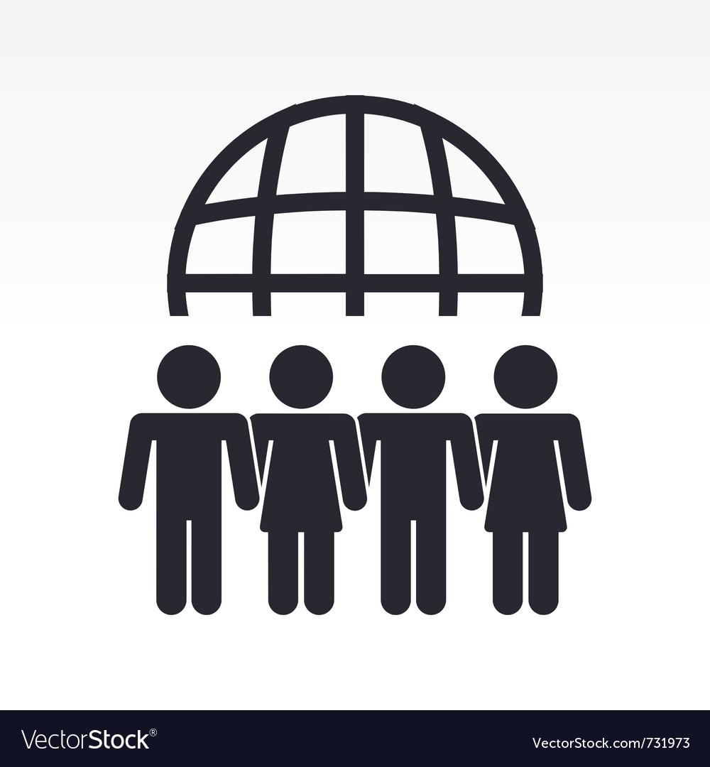 Global people meeting vector | Price: 1 Credit (USD $1)