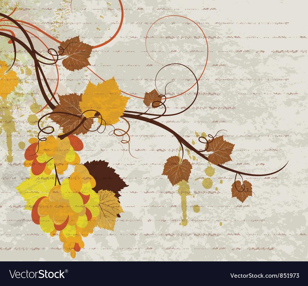 Grunge autumn floral background vector | Price: 1 Credit (USD $1)
