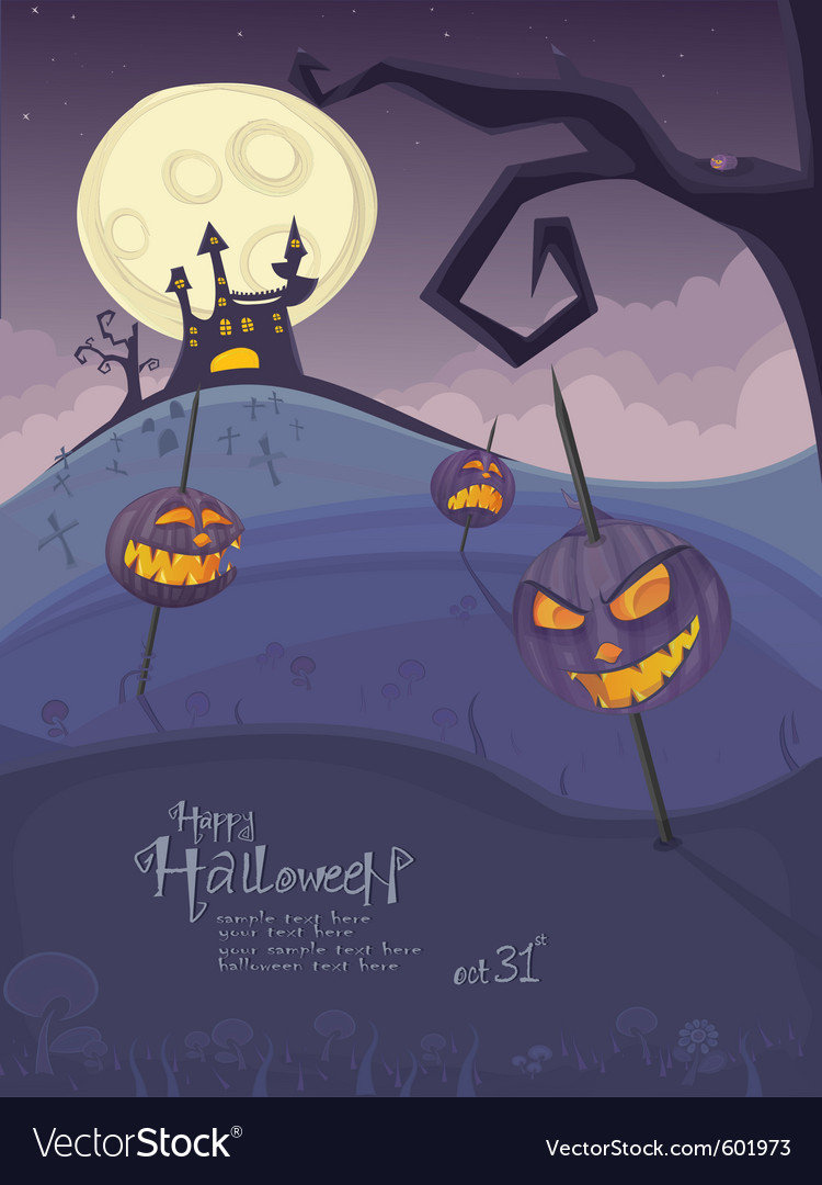 Halloween purple template vector | Price: 3 Credit (USD $3)