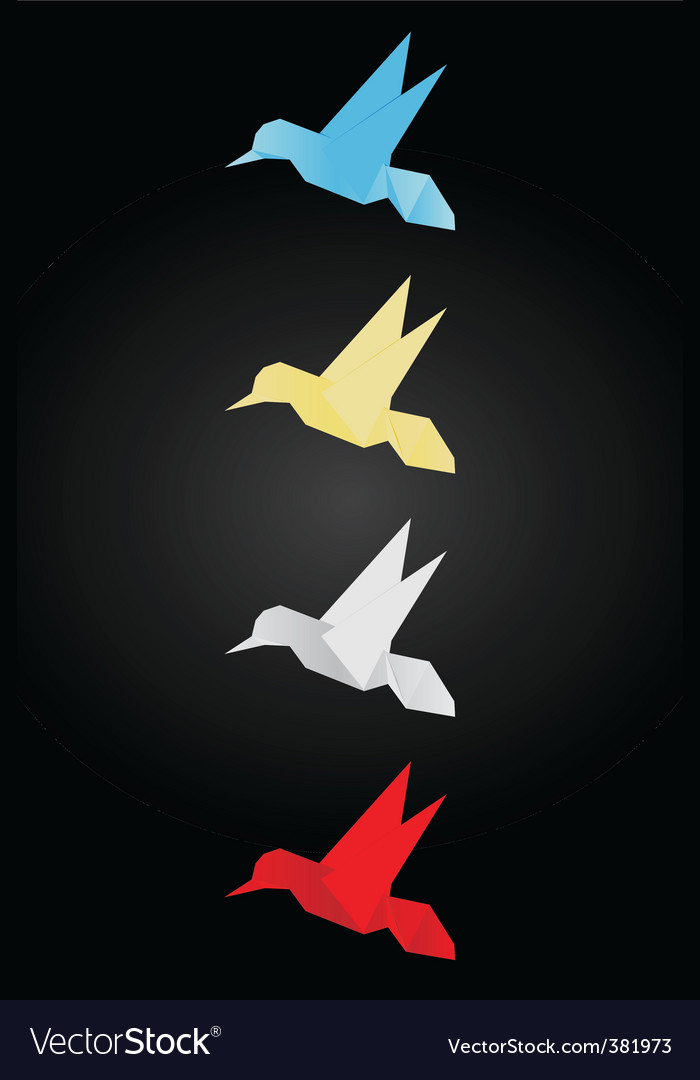 Origami birds vector | Price: 1 Credit (USD $1)