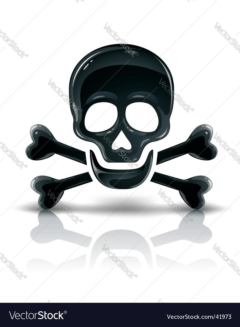 Skull and cross bones vector | Price: 1 Credit (USD $1)