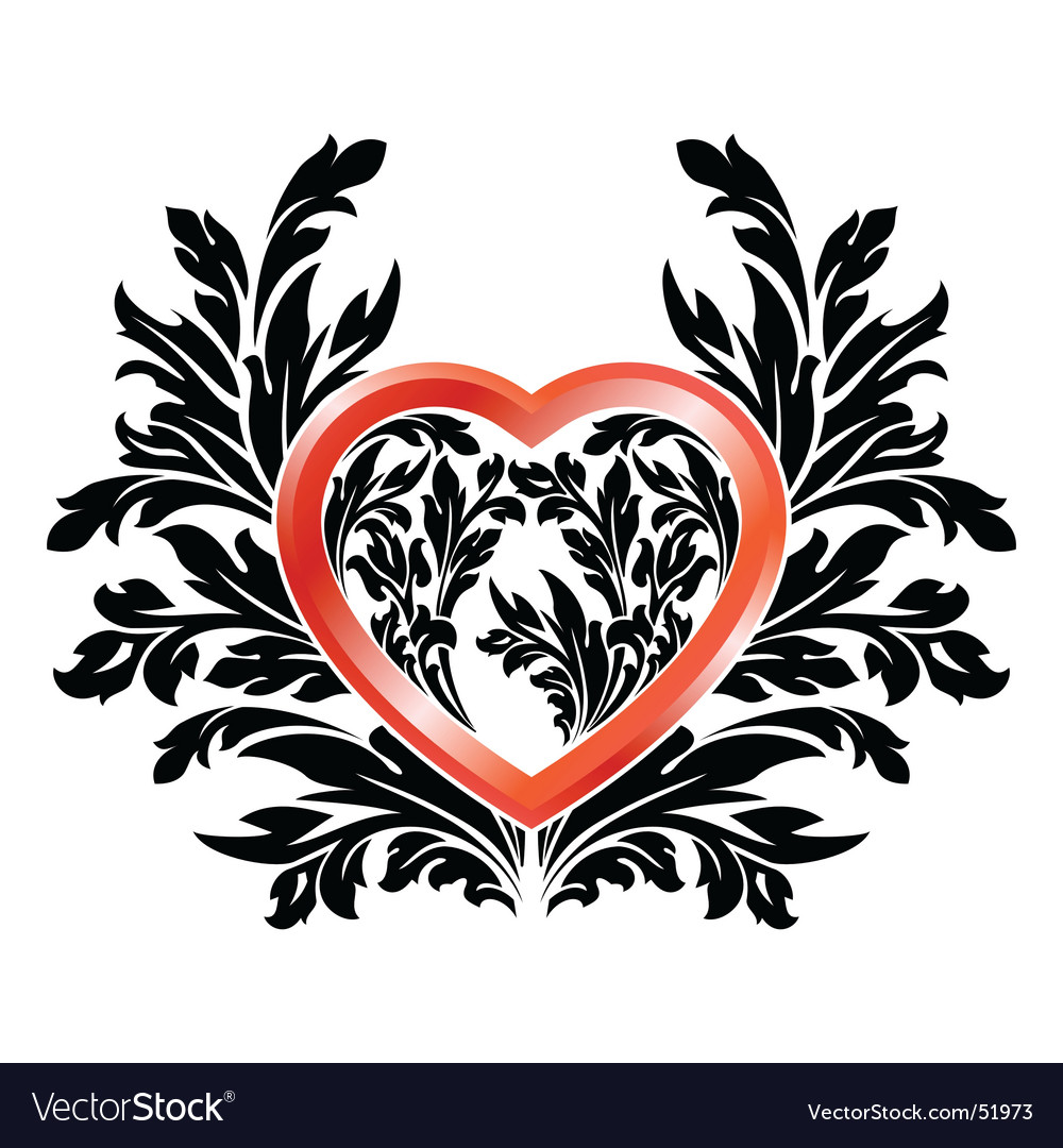 Valentine black red vector | Price: 1 Credit (USD $1)