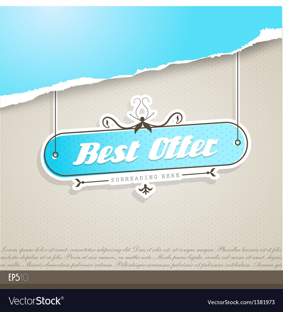 Vintage background with place for your text vector | Price: 1 Credit (USD $1)
