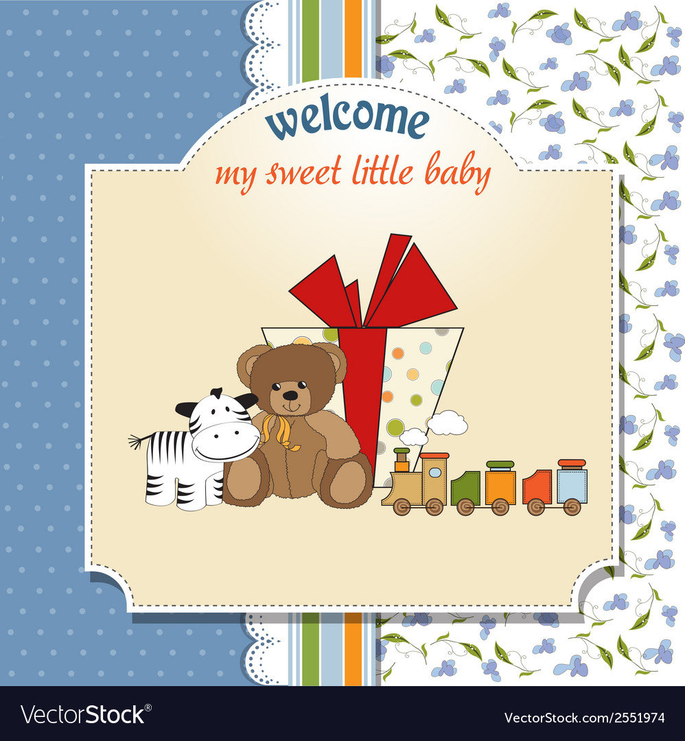 Birthday greeting card with presents vector | Price: 1 Credit (USD $1)