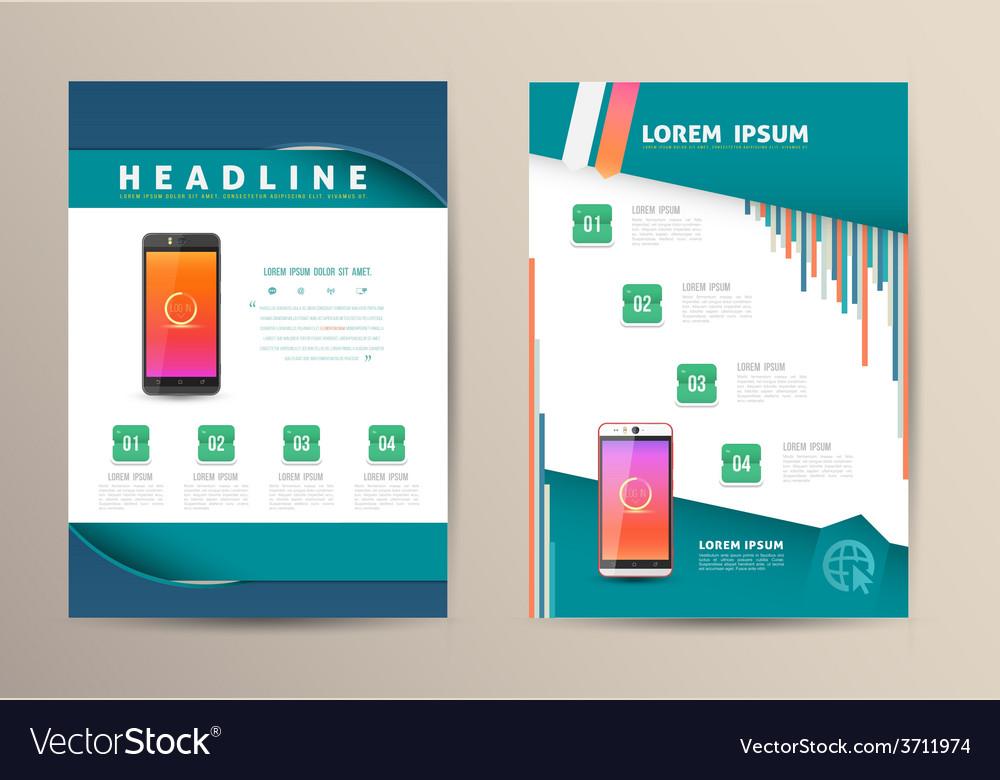 Brochure flyer design template vector   Price: 1 Credit (USD $1)