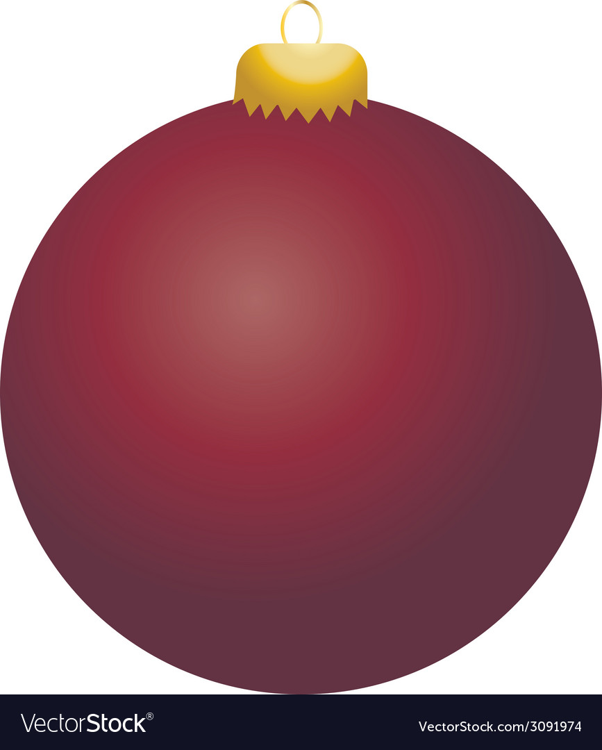 Burgundy ball ornament vector | Price: 1 Credit (USD $1)