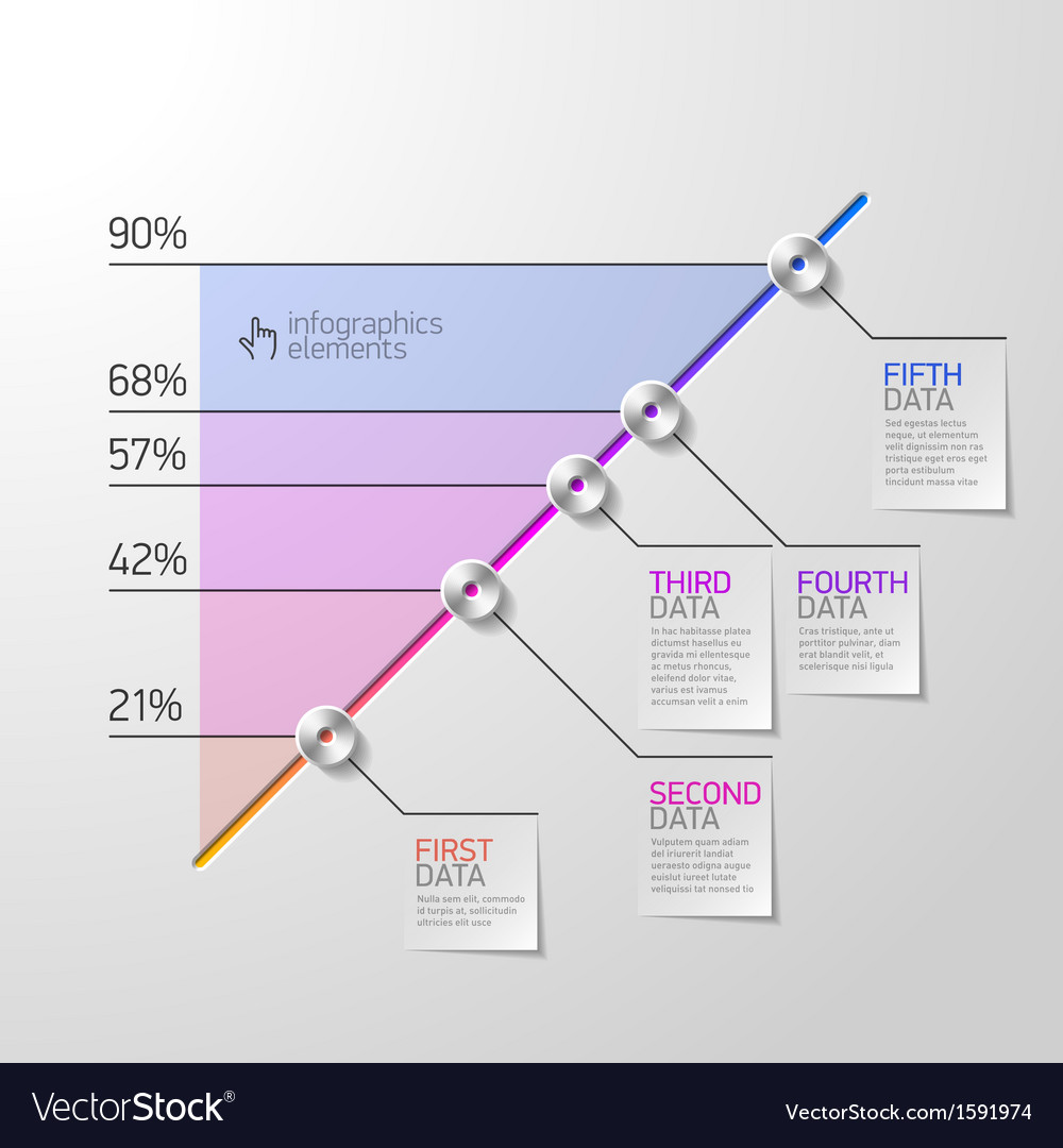 Business diagram infographics element vector | Price: 1 Credit (USD $1)