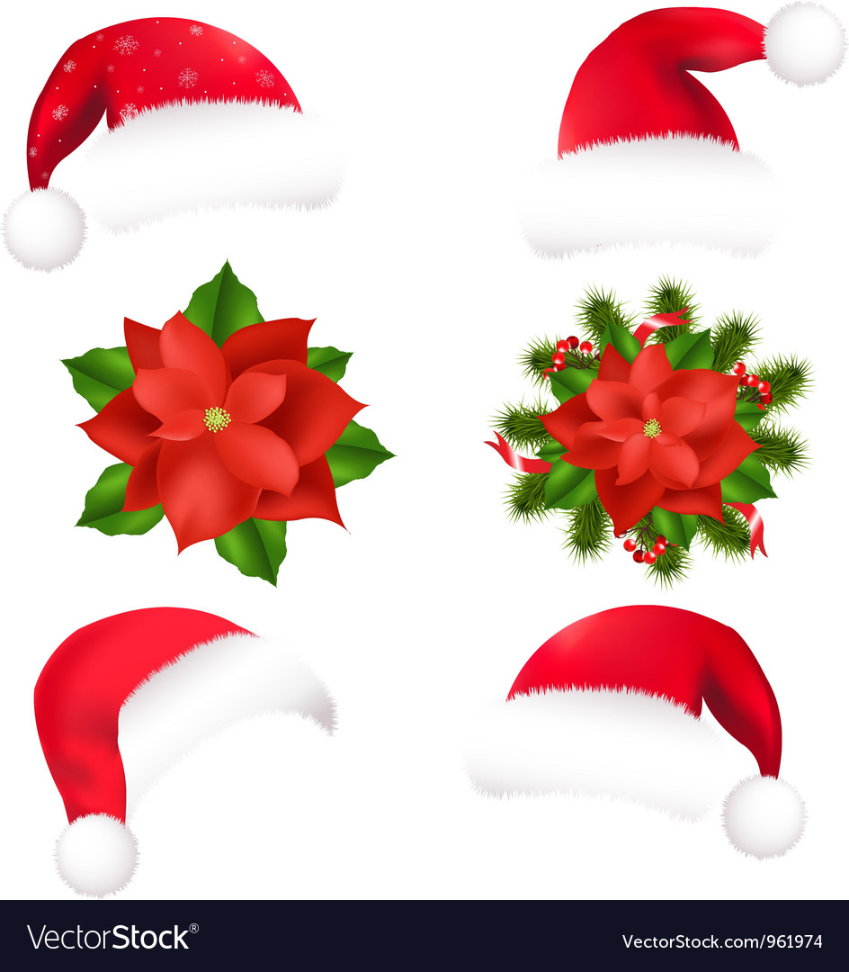 Christmas hats vector | Price: 1 Credit (USD $1)