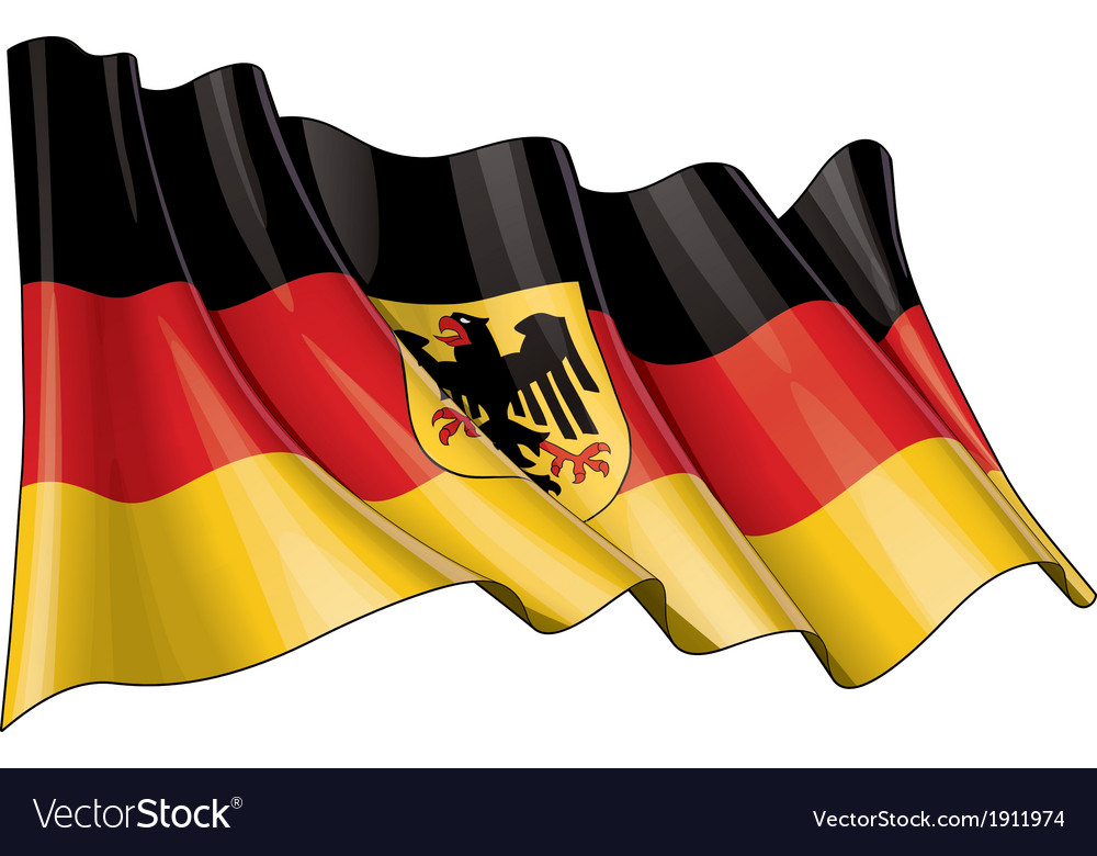 Germany state flag vector | Price: 1 Credit (USD $1)