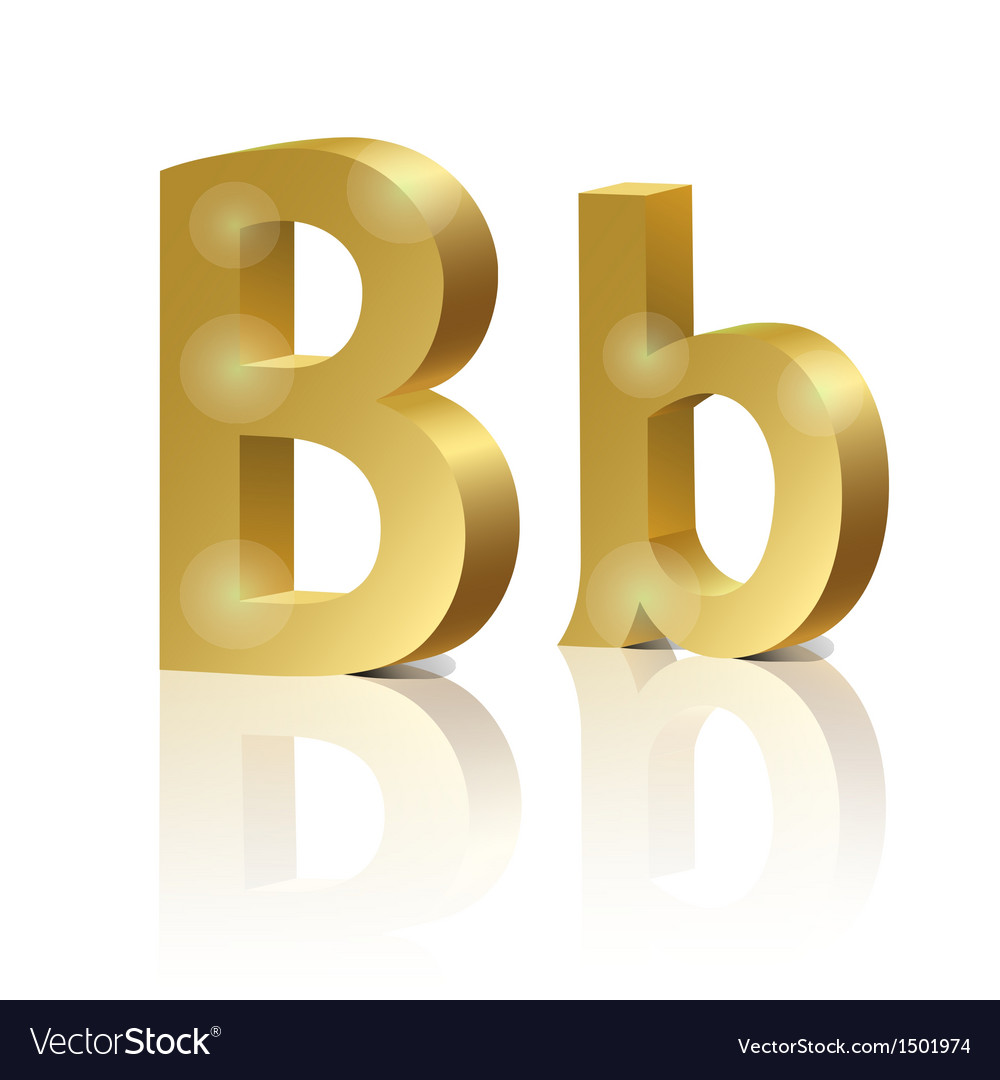 Golden letter b vector | Price: 1 Credit (USD $1)