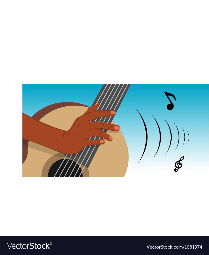 Guitar player vector | Price: 3 Credit (USD $3)