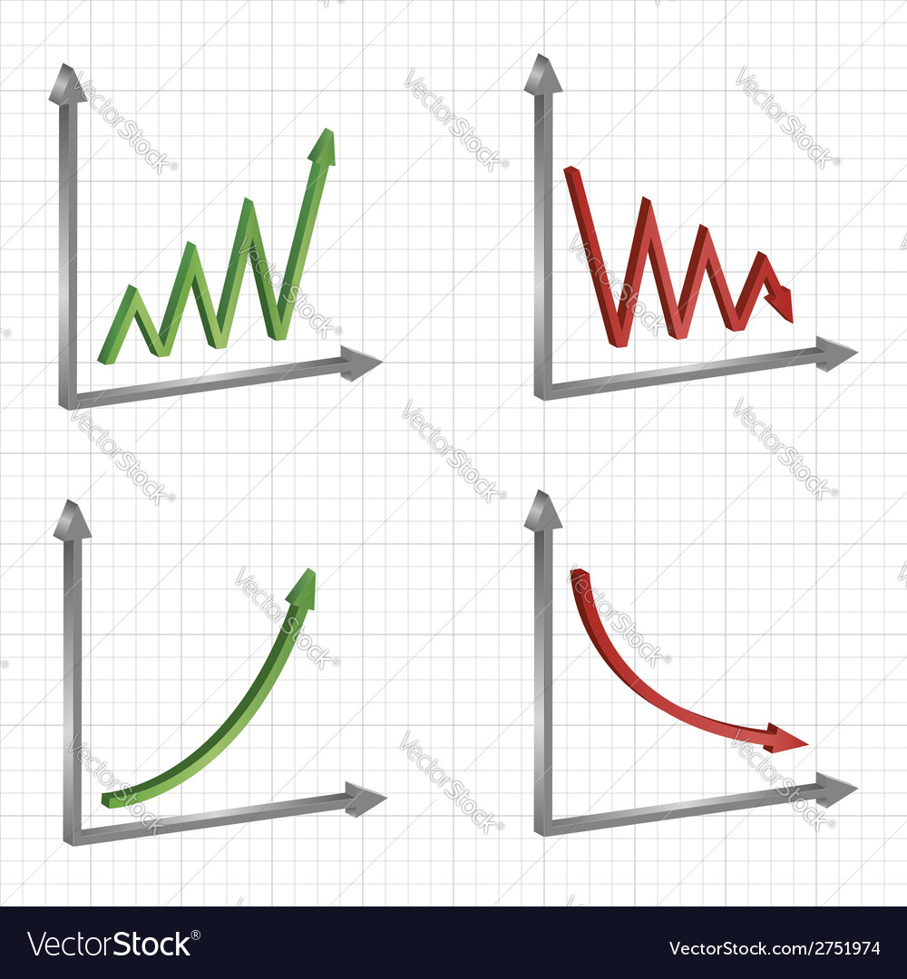 Set of different business graphs and charts vector | Price: 1 Credit (USD $1)