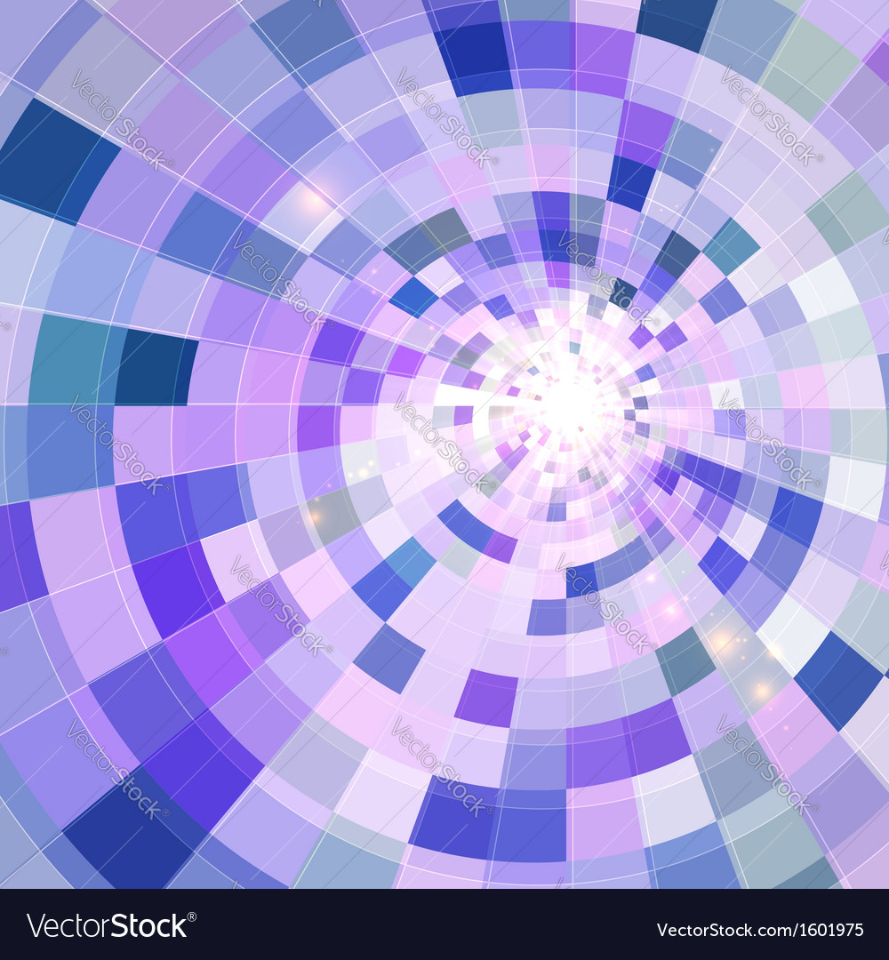 Abstract blue shining circle tunnel background vector | Price: 1 Credit (USD $1)