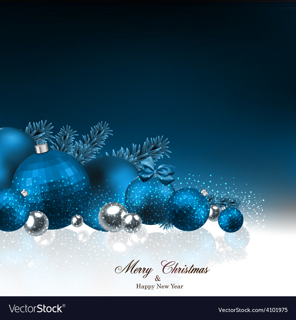 Background with fir branches and christmas balls vector | Price: 1 Credit (USD $1)
