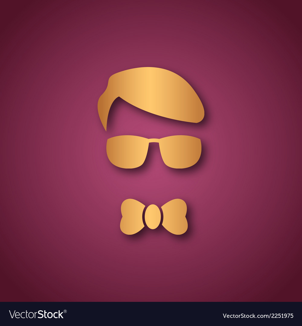 Boy with sun glasses over pink vector | Price: 1 Credit (USD $1)