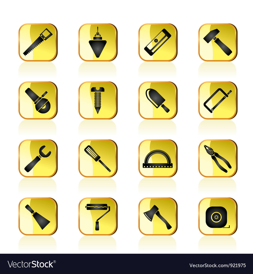 Construction and building tools icons vector | Price: 1 Credit (USD $1)