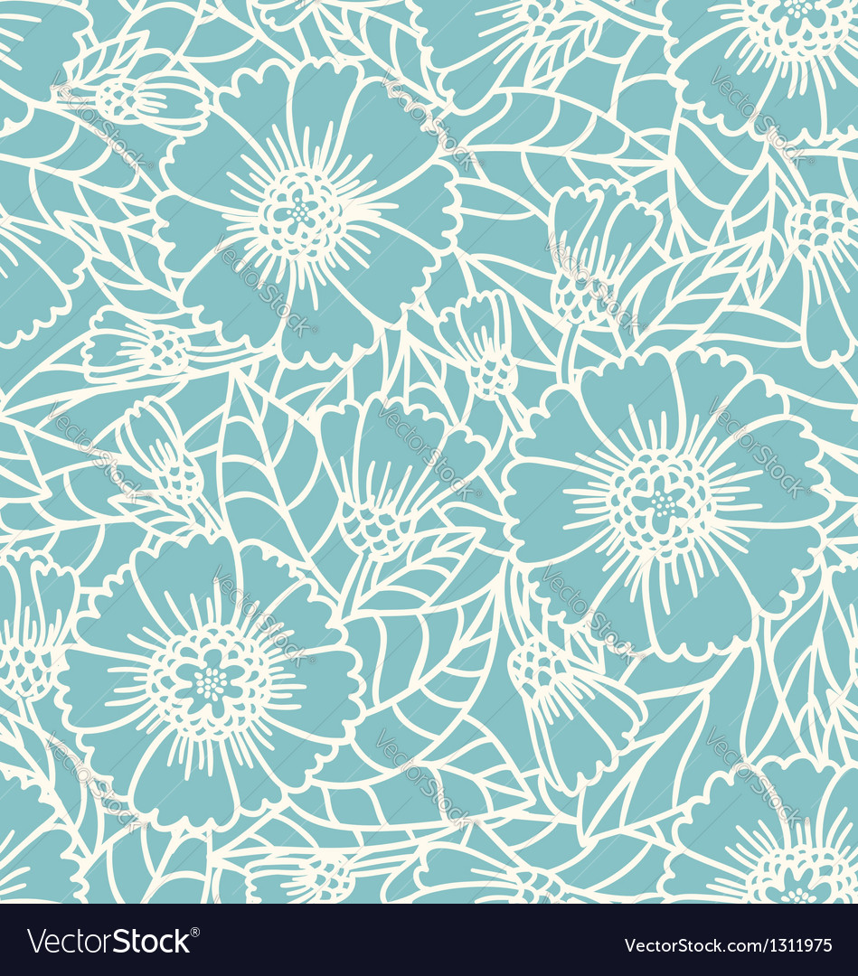 Daisy doodle pattern vector | Price: 1 Credit (USD $1)