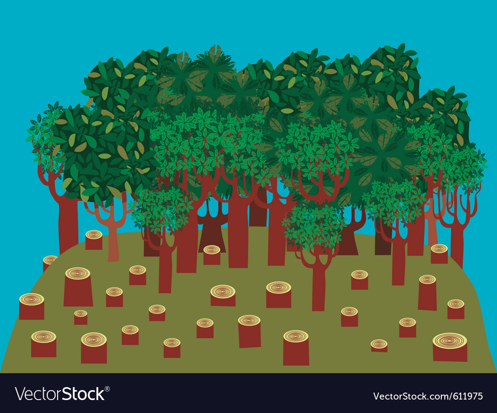 Deforestation vector | Price: 1 Credit (USD $1)